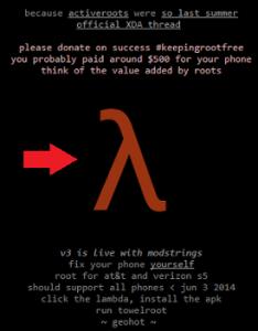 towelroot-website-lambda nasıl root edilir